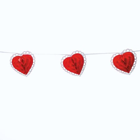 Fun Express Tissue Paper Valentine Heart Garland Novelty