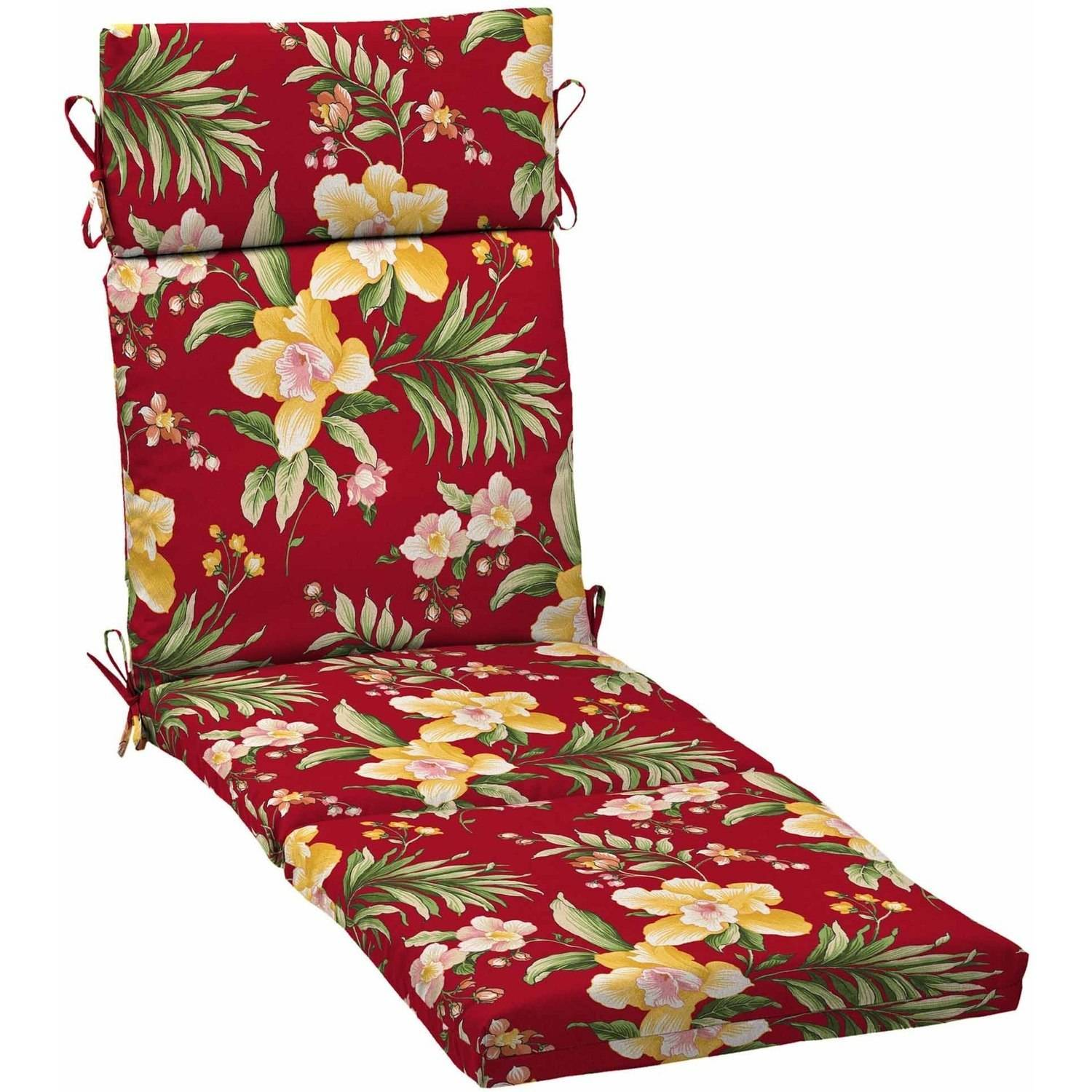 Mainstays Outdoor Patio Chaise Lounge Cushion, Multiple Patterns