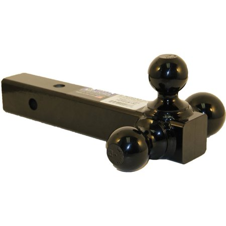 B&W BMTT31004 Trailer Hitch Ball Mount Triple Tow Ball (From Straight As To Triple X Trailer)