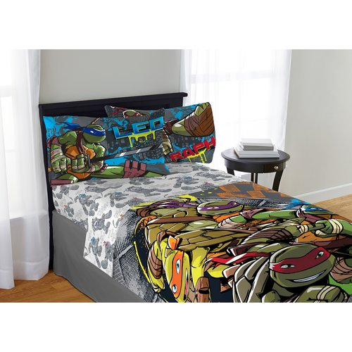 Teenage Mutant Ninja Turtle Cross Hatching Bedding Sheet Set, Twin/Full