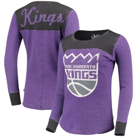 Sacramento Kings G-III Sports by Carl Banks Women's Blindside Long Sleeve Thermal T-Shirt - Purple/Black - Sacramento Costume Shops