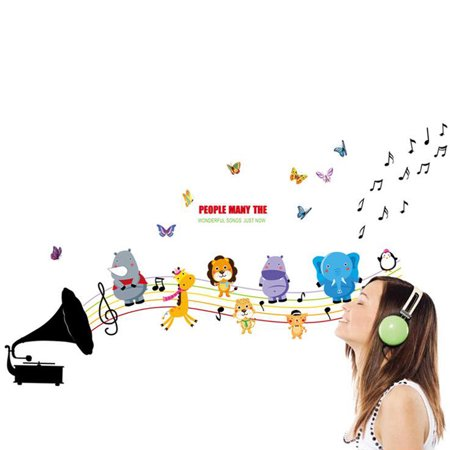 Wall Decoration Sticker Cartoon Wall Decals DIY Removable Wallpaper Children's Room Bedroom Kindergarten Classroom Layout Toddler Kids - image 5 de 8