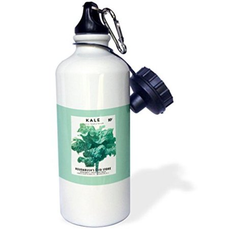 3dRose Kale Hanover Salad or Smooth Roudabushs Seed Store, Sports Water Bottle, - Spirt Store