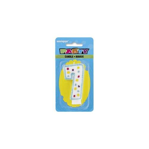 Unique Industries 34007 Party Numeral 7 Candle Pack of 6