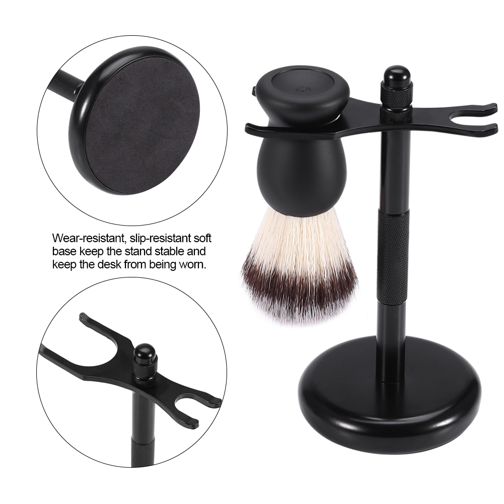Razor Shaving Brush Stand Zinc Alloy Holder Stable Well Balanced Mustache Shaver Brush Stand   ,Zinc Alloy Stand, Manual Shaver Holder