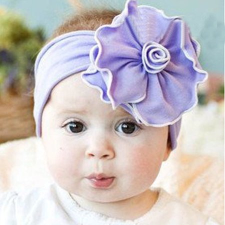 Beautiful Infant Baby Girls Flower Headband Hairband Hair Band Photograph Prop