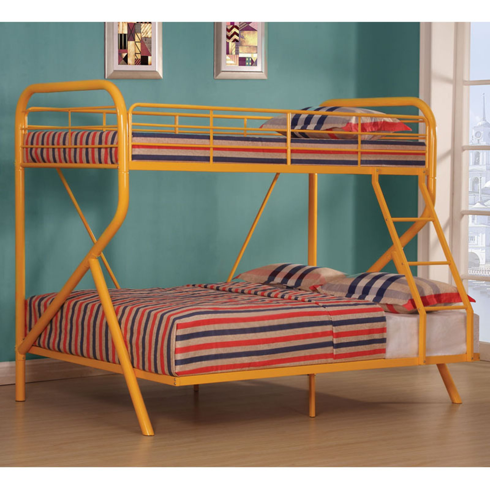 Acme Tracy Twin Over Full Metal Bunk Bed Part 2, Orange (Box 2 of 2)