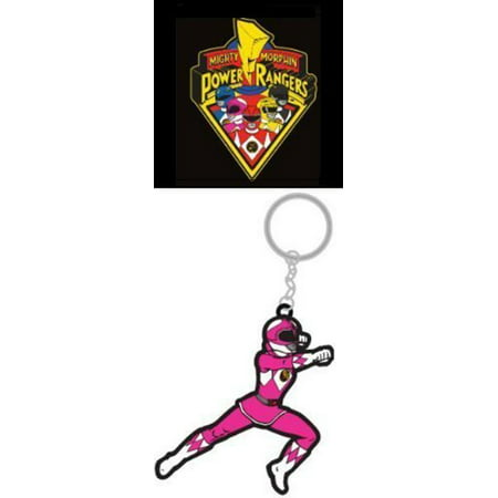 Mighty Morphin Power Rangers Pink Ranger - Unique High Quality Rubber Keychain