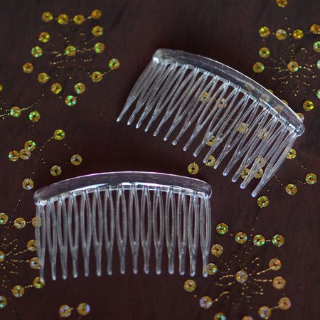 6 Clear Plastic Hair Combs DIY Craft Hair Supplies Craft Hair Combs