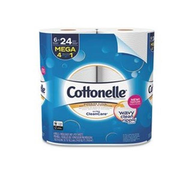 Kimberly Clark 47747 Ultra CleanCare Toilet Paper, Strong Tissue - Pack of 6