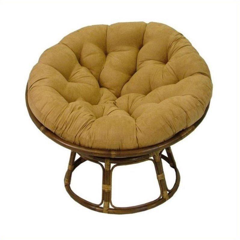 International Caravan Bali Rattan Papasan Cushion Chair Black