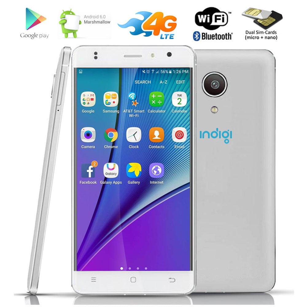 "Indigi® 5"" Android 6.0 QuadCore 4G LTE GPS Smartphone AT&T T-Mobile Straight Talk"