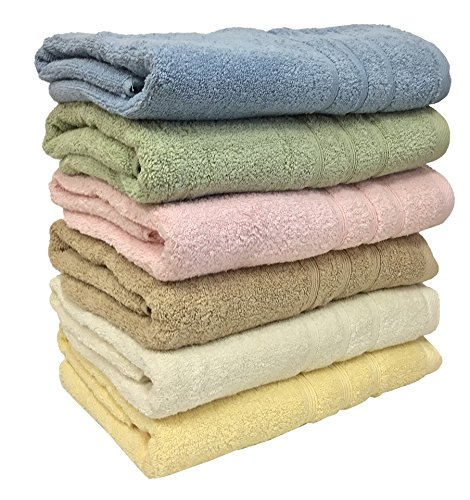 "Ruthy's Textile 3-pack 27"" X 54"" 100% Cotton Bath Towels Weight 1.4lb Ea Towel"