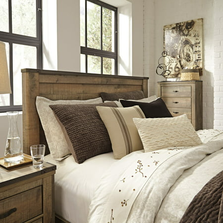 Signature Design by Ashley Trinell Brown Queen Panel Headboard Make Wood Headboard