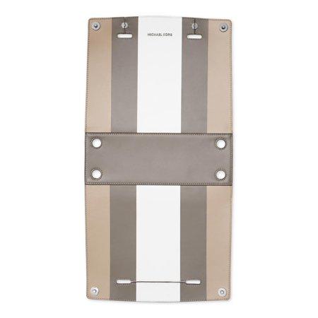 Michael Kors Womens Selma Swap Leather Reversible Handbag Cover Gray (Michael Kor Sales)