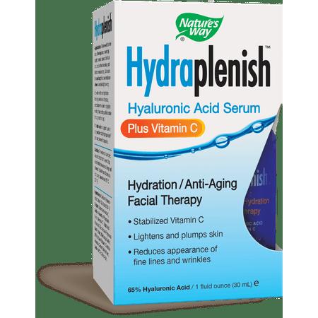 Nature's Way Hydraplenish Hyaluronique Sérum Acid Plus Vitamine C 1 fl oz
