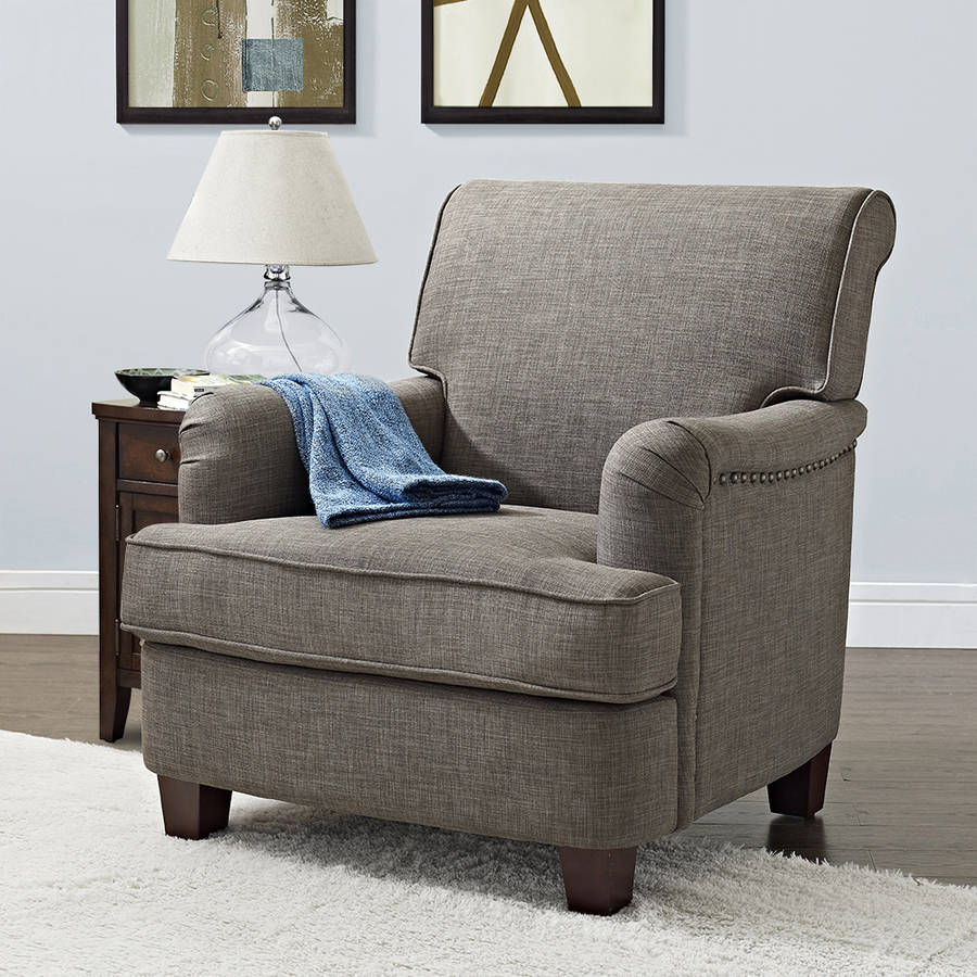 Club chair recliner - Better Homes And Gardens Grayson Rolled Top Club Chair With Nailheads Multiple Colors Walmart Com