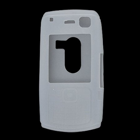 Unique Bargains Silicone Skin White Cover Phone Case for Nokia (Nokia N70 Music Edition)
