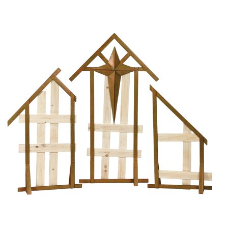 Napco Display Cross Creche - Set of 3 (Creche Display)