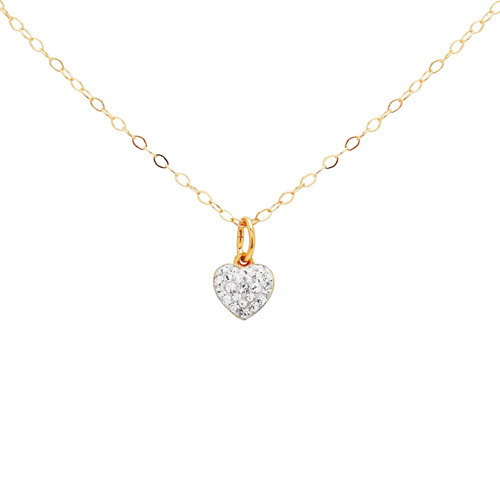 Ss/18kfl Heart With Cl Crystals Pendant