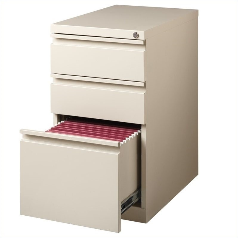 Hirsh Industries 3 Drawer Mobile File Cabinet File in Putty - image 1 of 2