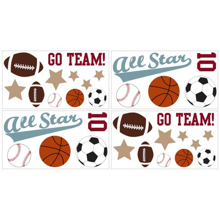 Sweet Jojo Designs  All Star Sports Wall Decal Stickers ()