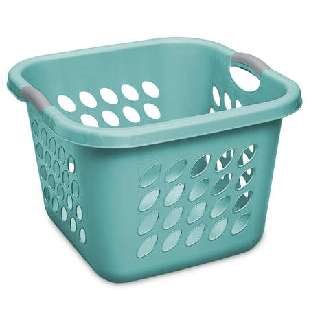 Sterilite 1.5 Bushel/53 L Ultra Square Laundry Basket, Teal Splash (Sterilite Laundry Basket)