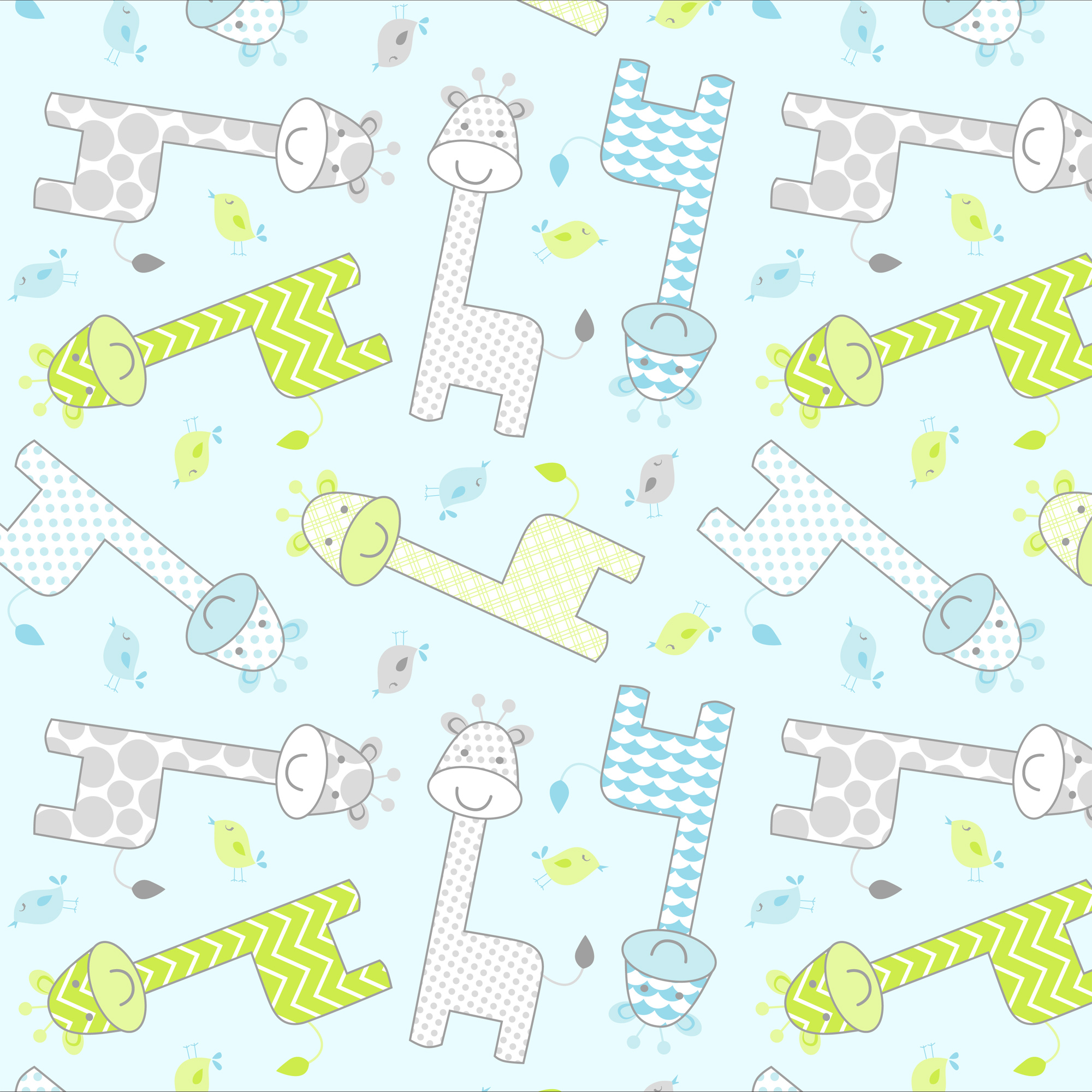 "David Textiles Baby Giraffe Flannel Fabric By The Yard 42"" Wide"