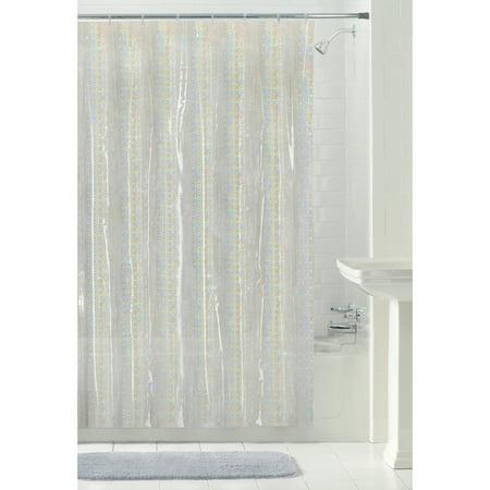 Mainstays Luminous 70 X 72 Clear PEVA Shower Curtain 1 Each
