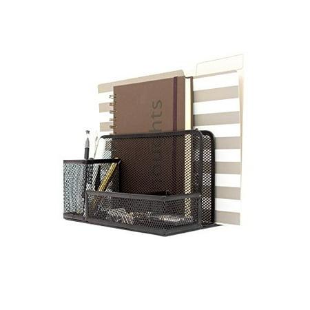 Blu Monaco Black Wire Mesh Desk Organizer - Vertical File Organizer ...