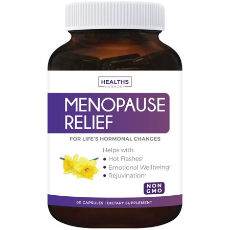 Healths Harmony Menopause Relief (NON-GMO) Helps Reduce Menopausal, Perimenopause Symptoms - Hot Flashes, Night Sweats - Female Hormonal Support Supplement for Hormone Balance - 60