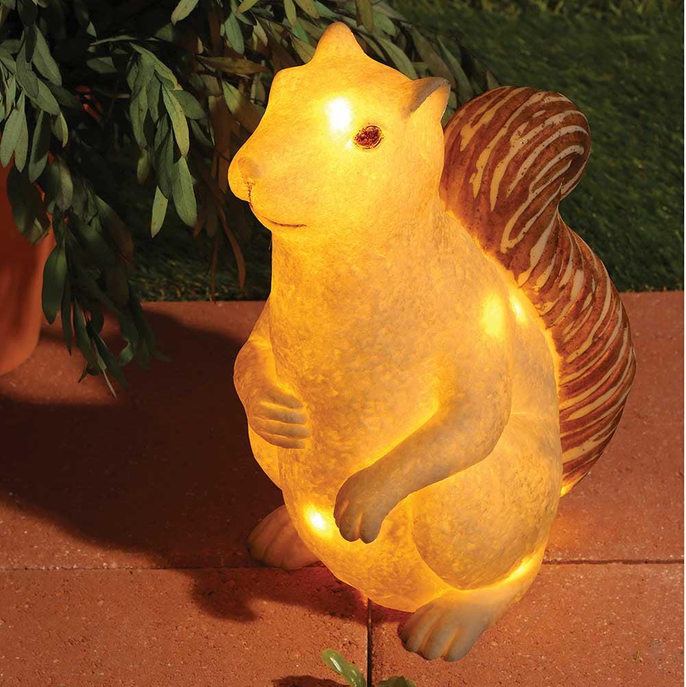 Squirrel-Shaped Sandstone Led  Lamp