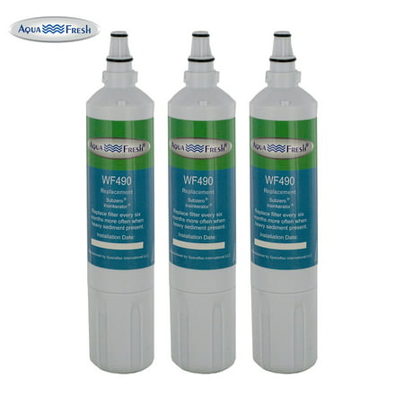 Replacement Filter for SubZero 4204490 / WF490 (3-Pack) Water Filter for Aqua Fresh 4204490 ()