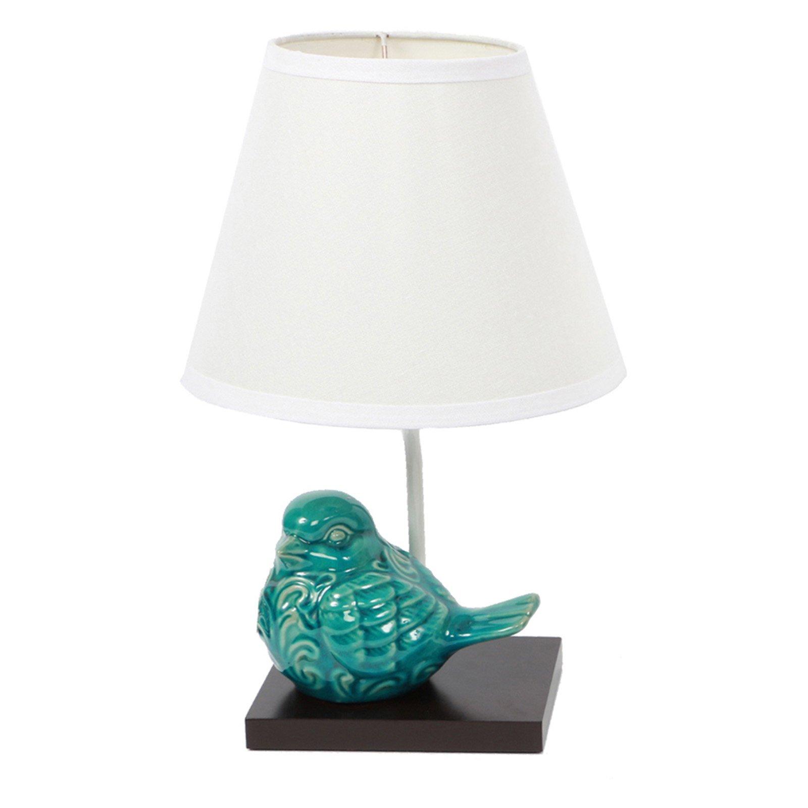 Dennis East International Crackle Finish Ceramic Bird Lamp ...