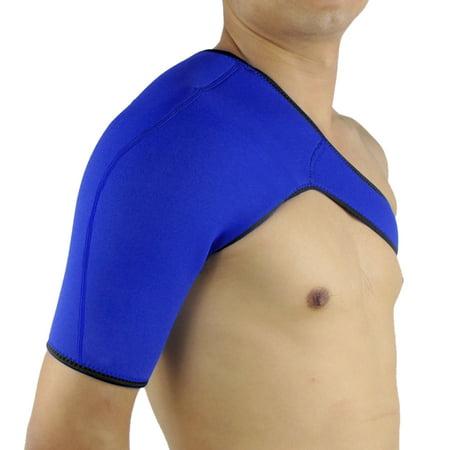 Blue L Size Neoprene Elastic Comfortable Shoulder Support Protect for Gym -
