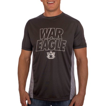 Russell Ncaa Auburn Tigers Mens Athletic Fit Black   Storm Gray Impact Tee