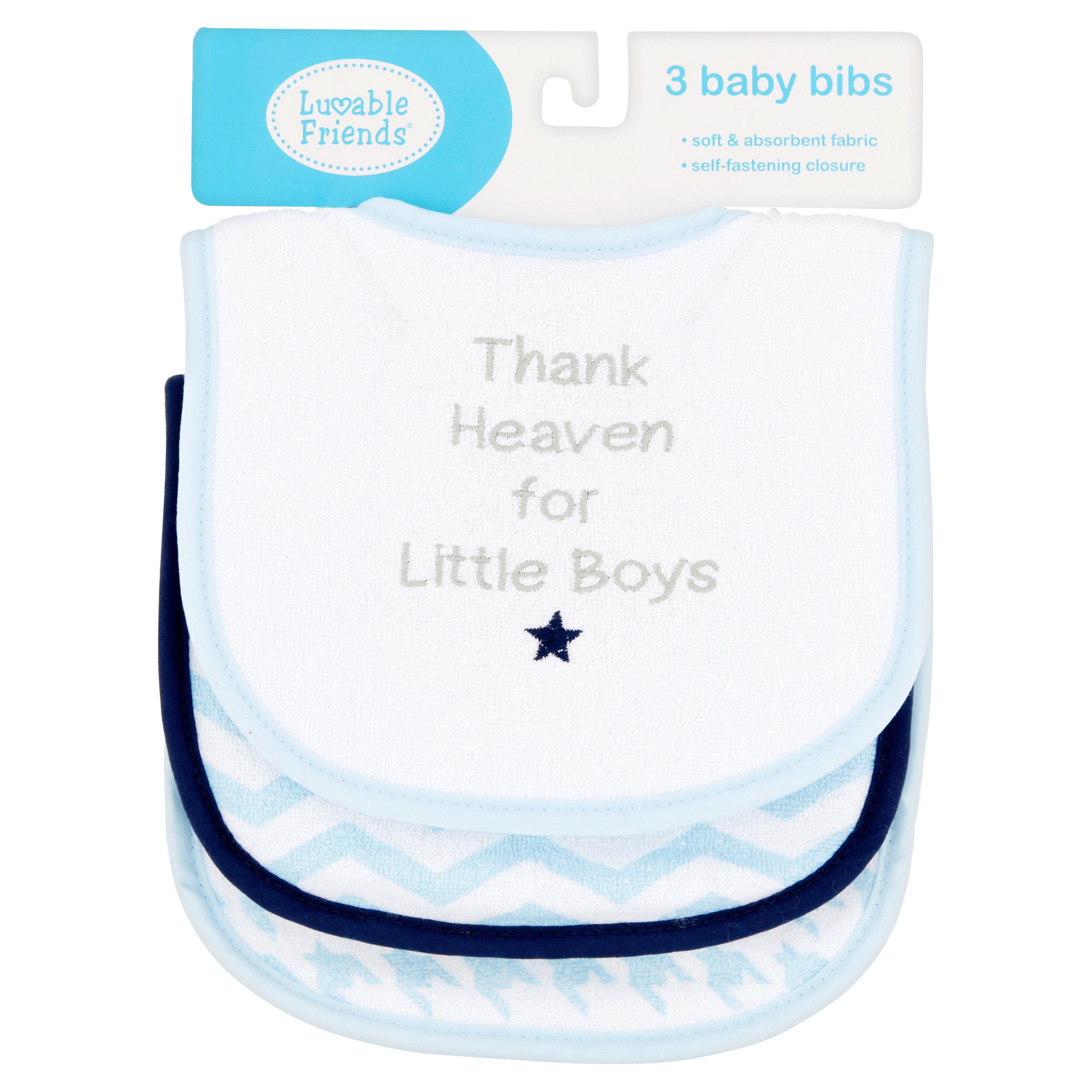 Wonder Nation Baby Boy 3-Pack Blue Puppy Bibs One Size