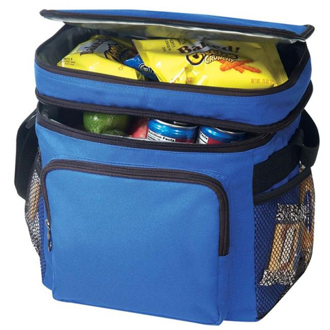DDI 1923249 Deluxe Poly Cooler With Lunch Bag, Royal - Style No.  062