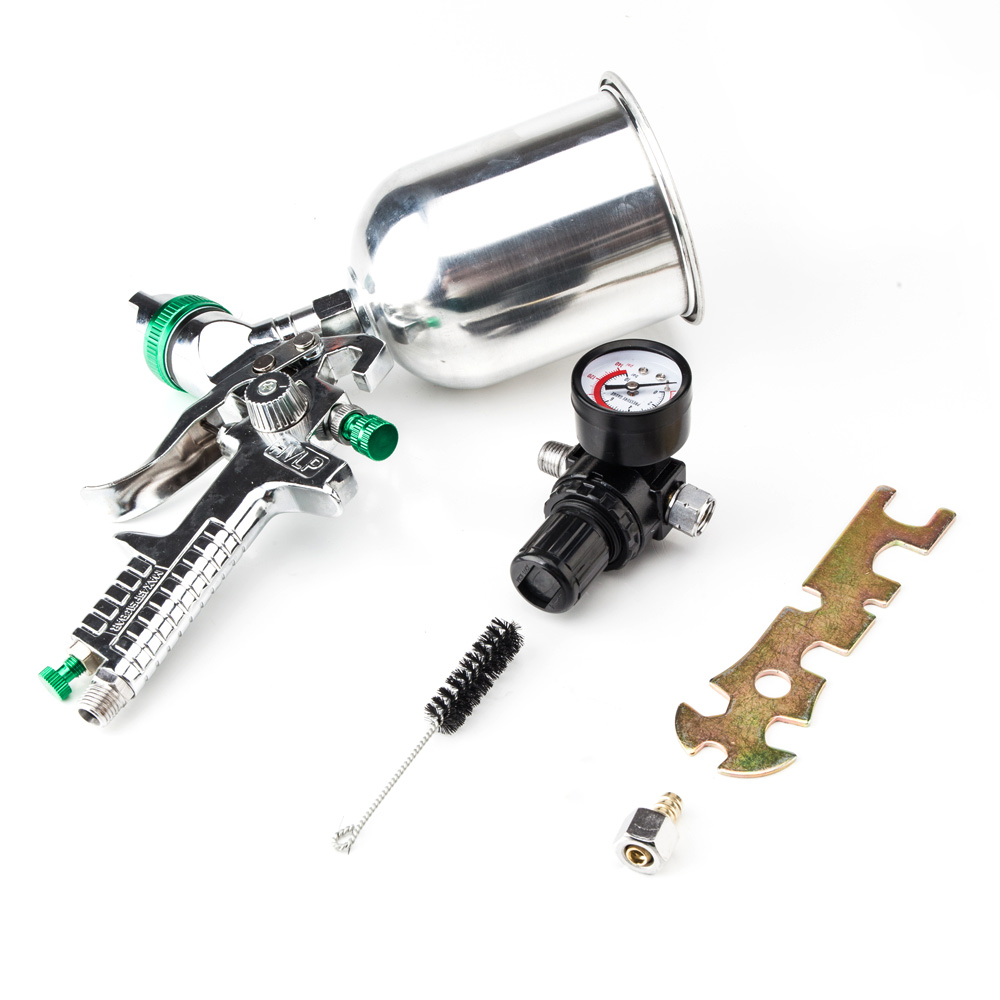 UBesGoo Professional HVLP Spray Gun 2.5mm Auto Car Paint Gravity Feed Gauge Metal Flake Primer Nozzle