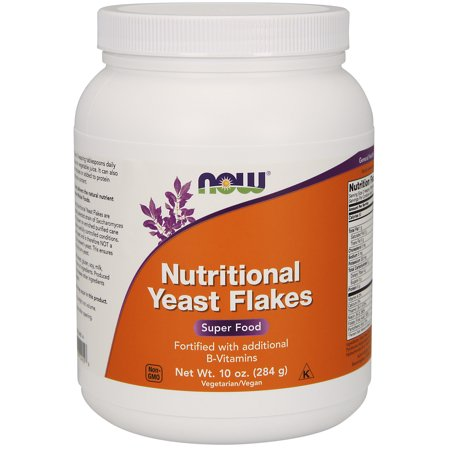 NOW Supplements, Nutritional Yeast Flakes Fortified with Additional B-Vitamins, 10-Ounce