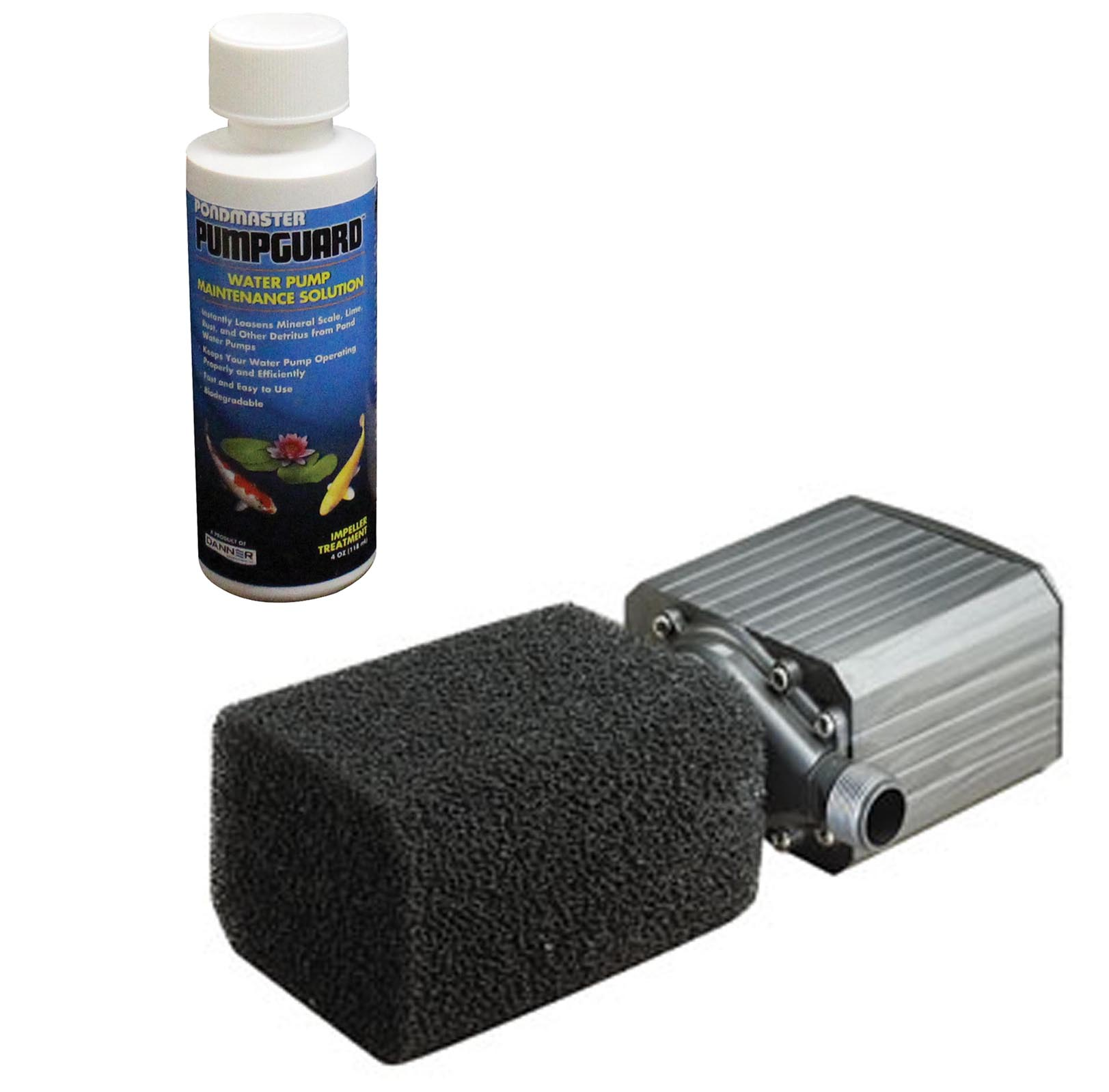 PONDMASTER Model 18 Supreme 1800 GPH Mag Drive Pond Pump w  Solution | 02718 by Danner Manufacturing, Inc.