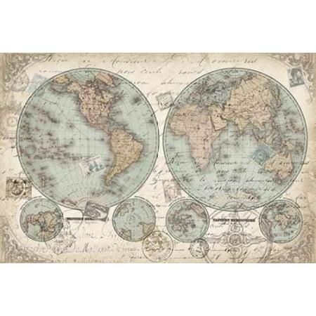World Hemispheres Landscape Canvas Art   Tre Sorelle Studios  12 X 18