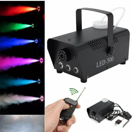 500W 0.5L Pro RGB LED Wireless Fog Smoke Machine with Remote Control Live Concert DJ Disco Laser Light Club Stage - Boston Concert Halloween