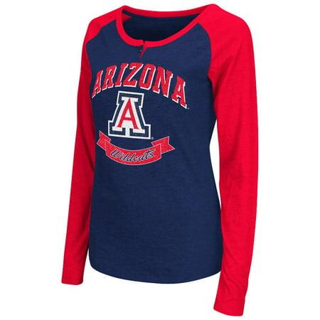 Womens Ncaa Arizona Wildcats Long Sleeve Raglan Tee Shirt  Team Color