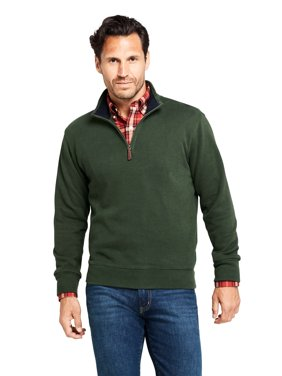 Lands' End Men's Bedford Rib Quarter Zip