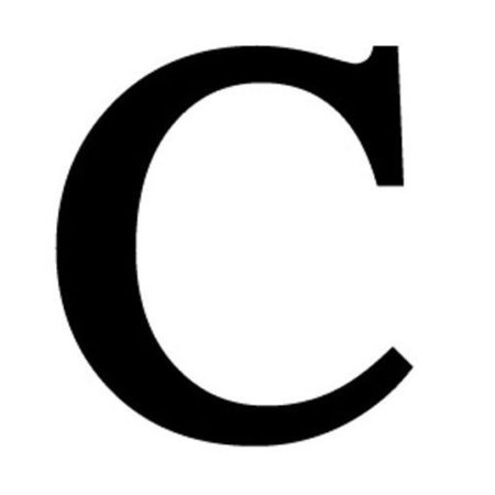 Letter C Black METAL 12 Inch Wrought Iron Signage Home Wall Art Plaque Name Sign