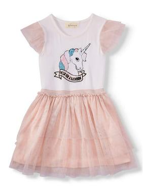 b87c97ab2b99 Product Image Sequin Unicorn Tiered Mesh Dress (Little Girls   Big Girls)