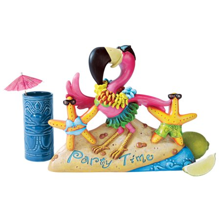 Design Toscano Party Time Pink Flamingo Statue (Photographer Statue)