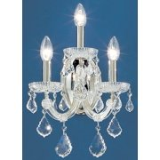 12 in. Maria Theresa Wall Sconce in Chrome Finish (Crystalique)