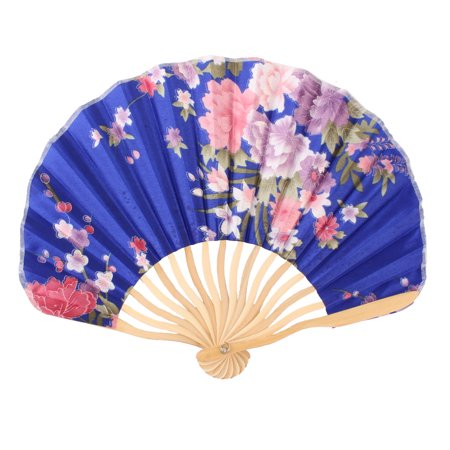 Womens Pennies - Women Dancing Party Bamboo Frame Peony Printed Summer Hand Folding Cooling Fan